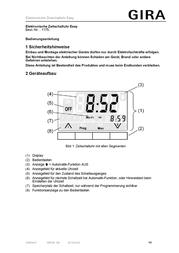 Gira Timer 117503 117503 Data Sheet