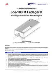 Mec Energietechnik 121-12402-530IM Lead Acid Battery Charger, For V Batteries 121-12402-530IM User Manual