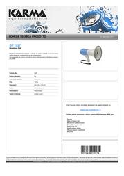 Karma Italiana GT 1227 Leaflet