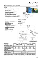 Peter Electronic 2B000.40025 VB 400-25L Brake Device VersiBrake 2B000.40025 Data Sheet