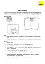 Logic3 i-Station Studio MIP199K User Manual