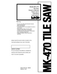 MASTER LOCK MK-470 User Manual