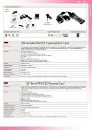 Actebis Exsys EX-1372 - ExpressCard with 2S Serial RS-232 ports 15.06.1151 Leaflet