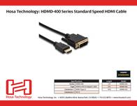 Hosa Technology 6ft, HDMI Male - DVI-D HDMD-406 Leaflet