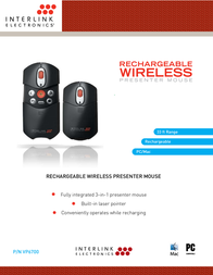 SMK-Link Wireless Presenter Mouse with Laser Pointer VP6700 Leaflet