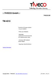 Tiveco TM-4010 Leaflet