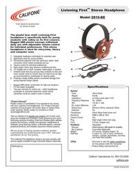 Califone 2810-BE Leaflet