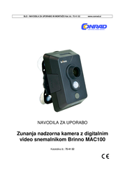 Brinno MAC100 Data Sheet