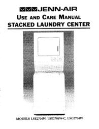 Jenn-Air Washer/Dryer LSE2704W User Manual