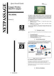 Compex CPX-05-WLM54G User Manual