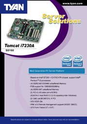 Tyan Tomcat i7230A (S5160) S5160G2NR-RS Leaflet