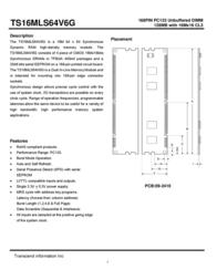 Transcend 128MB SDRAM PC133 Unbuffer Non-ECC Memory TS16MLS64V6G User Manual