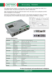 Anttron TM250HD 189250HD Leaflet