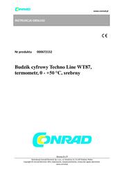 Technoline WT 87 Data Sheet