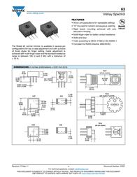 Vishay 63 P 50K Precision Trimming Potentiometer 63 P 50K Data Sheet