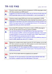 Globalsat tr-102 Information Guide