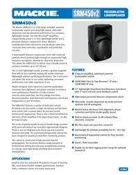 Mackie SRM450 V2 SRM450V2 User Manual
