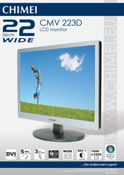 """Chimei 22"""" widescreen LCD monitor CMV 223D Leaflet"""