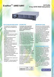 Infortrend A08F-G1A2 FC-to-SATA RAID Subsystem 8 drives in 2U rack space A08F-G1A2-M1 Leaflet
