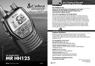 Cobra MR HH125 MR-HH125 User Manual