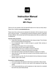 Hip Street HS-T29 User Manual