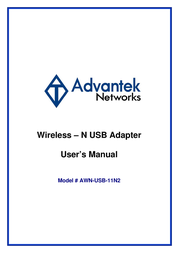 Advantek Networks AWN-USB-11N2 User Manual