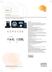 Eton Sound 102 iPod Black ET-SO102BL Leaflet