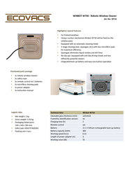 Ecovacs Winbot 710 W710 Leaflet