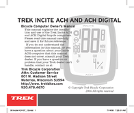 Trek Bicycle Computer User Manual