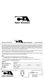 Cyber Acoustics CVL-1124rb CVL-1124RB Leaflet