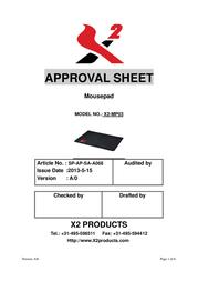 X2 XPAD PRO XXXL X2-MP03 User Manual