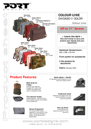 Port Designs Color Line bag CHICAGO II Sable 100191 Leaflet