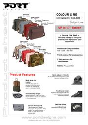 Port Designs Color Line bag CHICAGO II Sable 100191 Fascicule