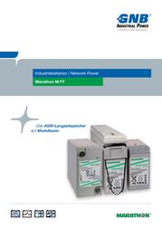 Gnb Marathon M 12V 125 FT UL94, 12V Ah lead acid battery NAMF120125VM0FA NAMF120125VM0FA Data Sheet