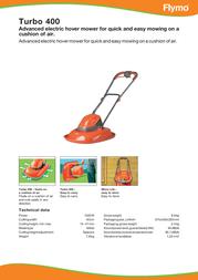 Flymo Turbo 400 5011759013901 Leaflet