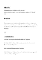 EUROCOM Eurocom Laptop 3100C 用户手册