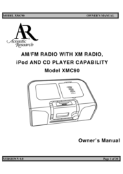 Acoustic Research XMC90 User Manual