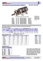 Mfa 148:1 gearbox motor, 4.5-15V 540 motor 919D1481 Data Sheet
