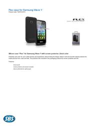 SBS Flex TE8PSCWYK Leaflet
