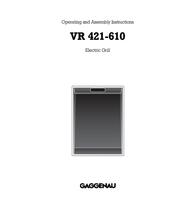Gaggenau VR 421-610 User Manual