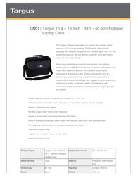 Targus Notepac CN01 Leaflet