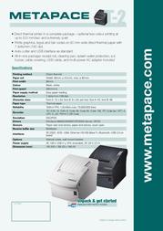 Metapace T-2 META-T2S Leaflet