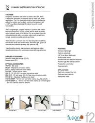 Audix Fusion F2 AUDIX F2 Leaflet