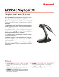 Metrologic MS9540 VoyagerCG MK9540-77A38 Leaflet