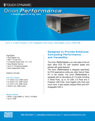 Touch Dynamic ORIONG530 Leaflet