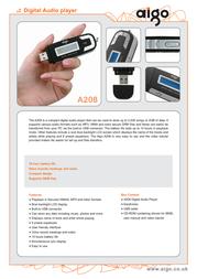 Aigo MP3 Player  Pink YTN6993 Leaflet
