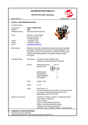Ferdyf . 1980 Leather Gloves 1980 Data Sheet