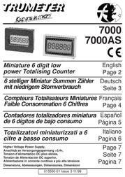 Trumeter 7000AS Data Sheet