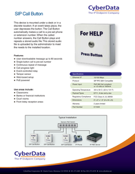 CyberData Systems 011049 Leaflet