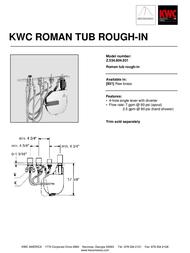 KWC Roman Tub Rough-in Z.534.804.931 Leaflet
